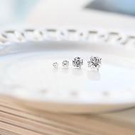 [一位对销售]★银★整洁立方体耳环