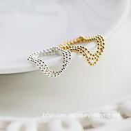 ★银★简单球链条戒指