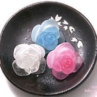 ★银针★冰玫瑰耳环