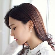 ★银针★双珍珠耳环