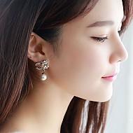 ★银针★逆转珍珠耳环