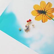★银针★长颈鹿和大象耳环