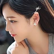 [夹式]艾米莉珍珠花耳环