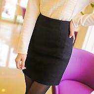 高雅气质(黑色H形超短裙)